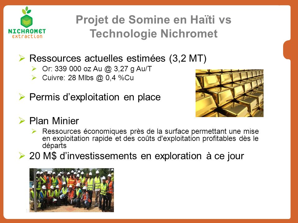 Projet de Somine en Haïti vs Technologie Nichromet