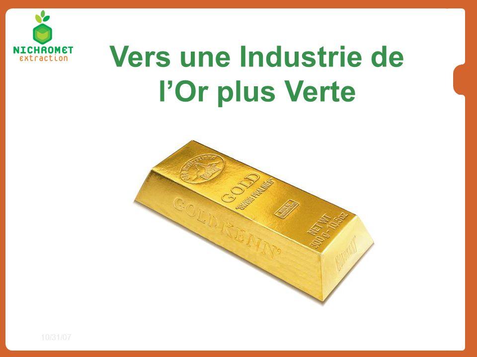 Vers une Industrie de l'Or plus Verte