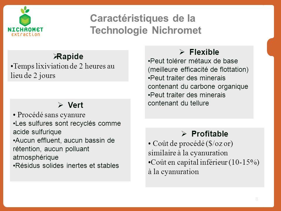 Caractéristiques de la Technologie Nichromet
