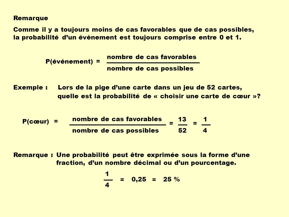 Quelques calculs de probabilit s ppt video online for Calcul d une pente en pourcentage