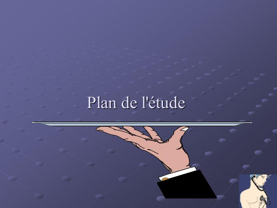 Plan de l étude