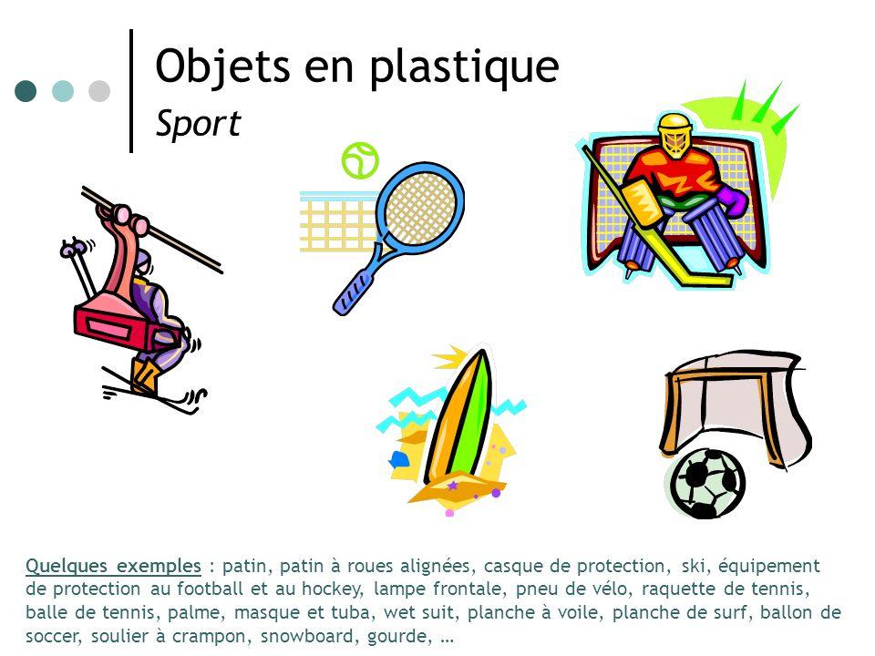 Objets en plastique Sport