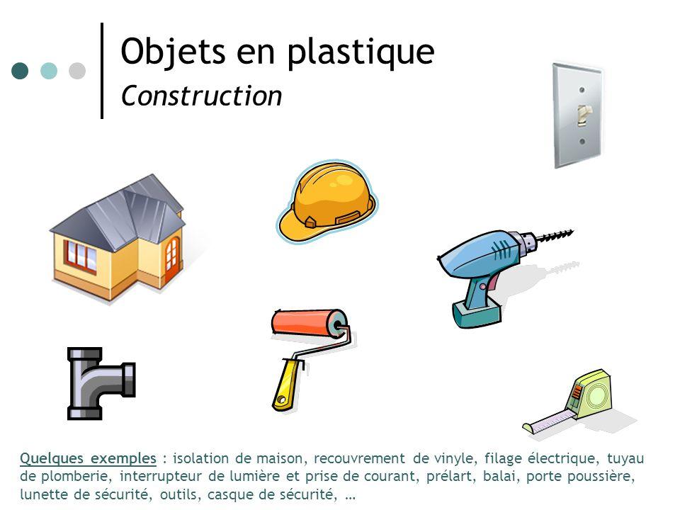 Objets en plastique Construction