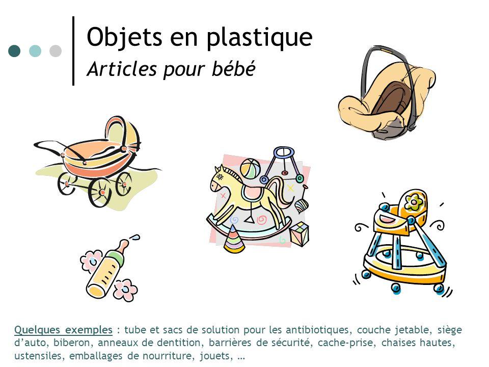 Objets en plastique Articles pour bébé