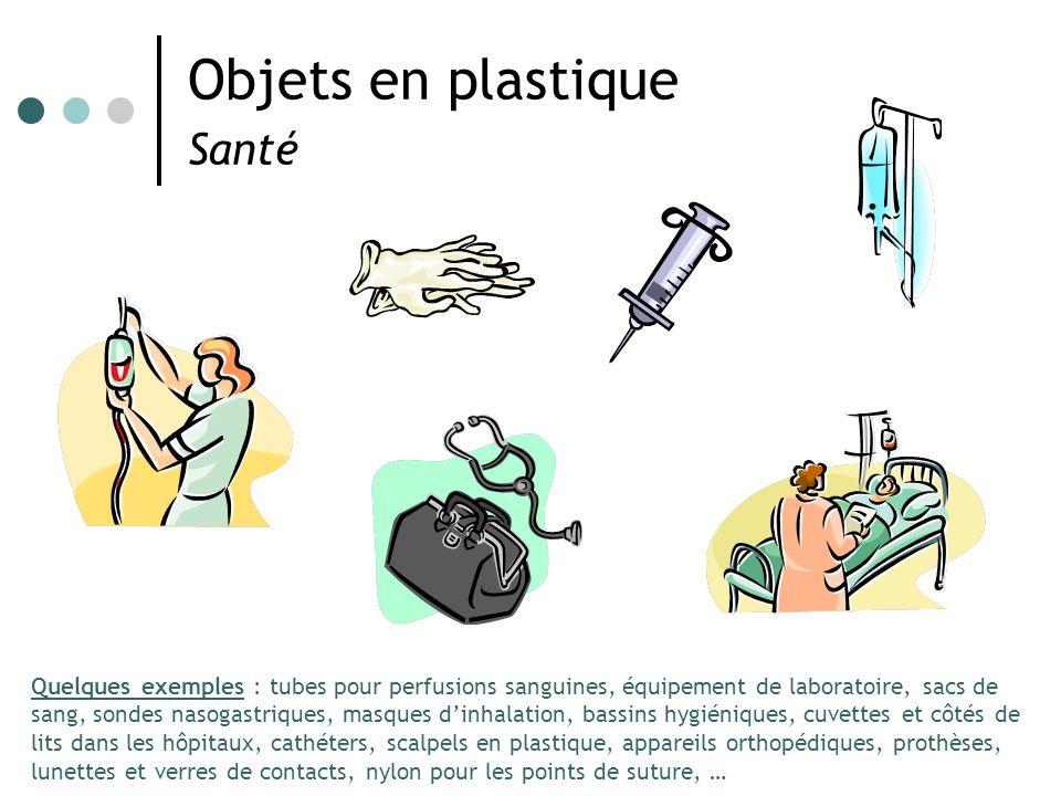 Objets en plastique Santé