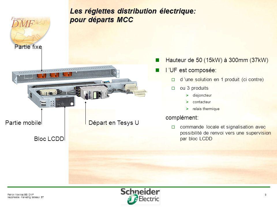 Les réglettes distribution électrique: pour départs MCC