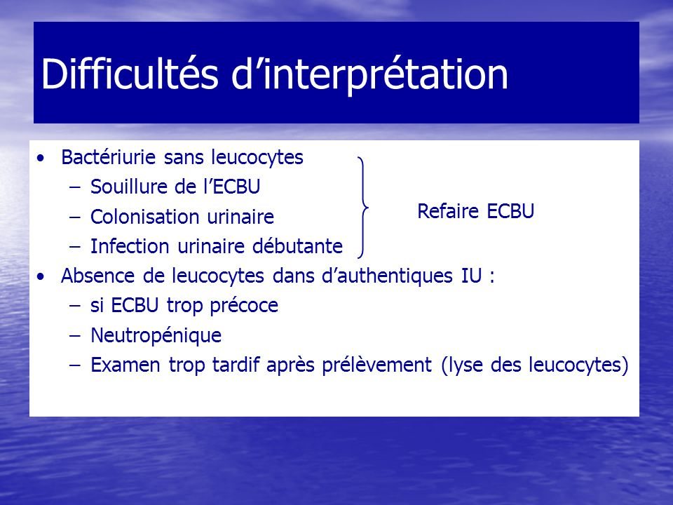 Difficultés d'interprétation