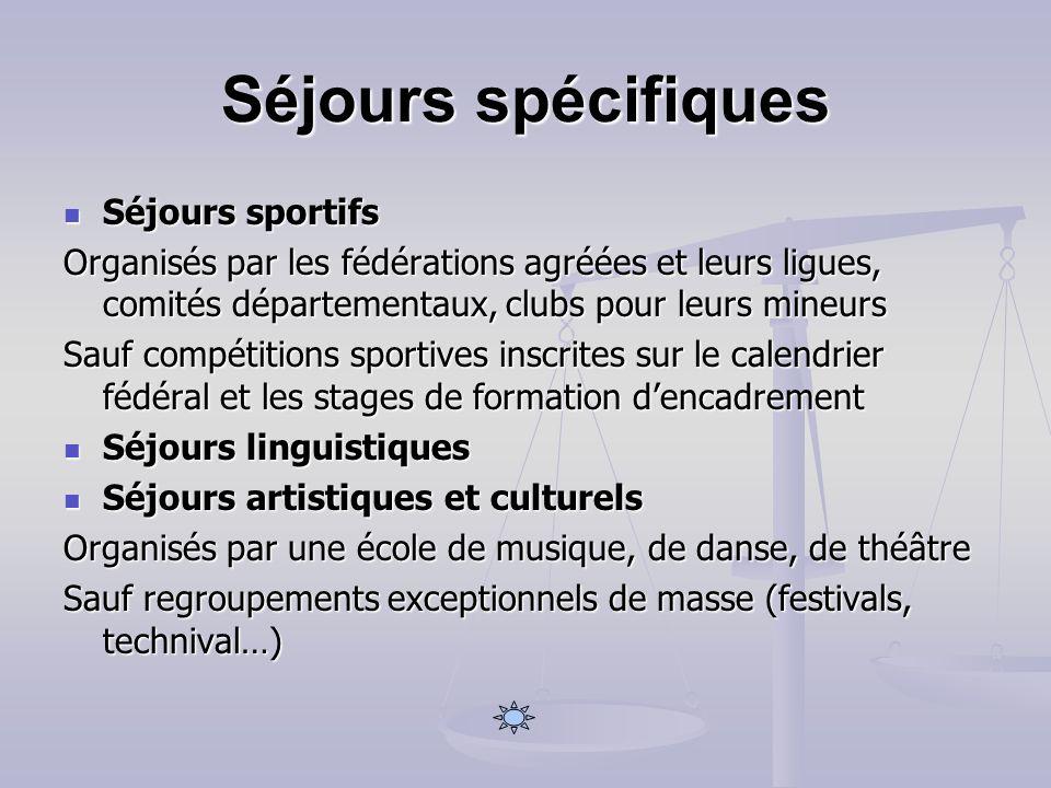 Séjours spécifiques Séjours sportifs