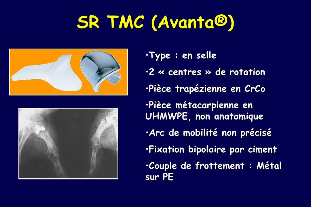 SR TMC (Avanta®) Type : en selle 2 « centres » de rotation