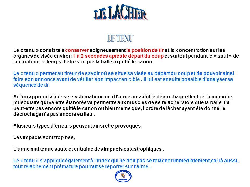 LE LACHER LE TENU.