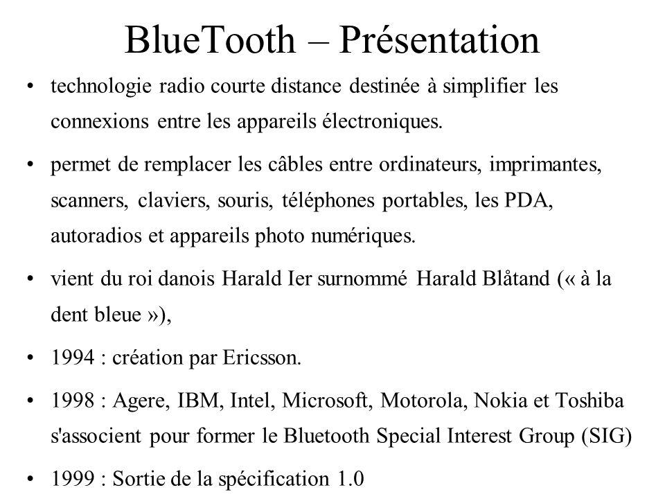 BlueTooth – Présentation