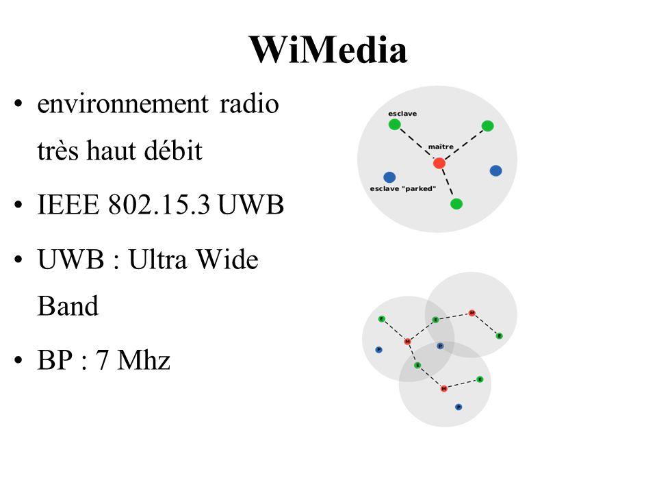 WiMedia environnement radio très haut débit IEEE 802.15.3 UWB