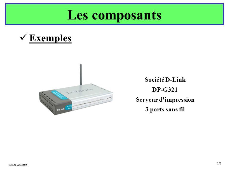 Les composants Exemples Société D-Link DP-G321 Serveur d impression