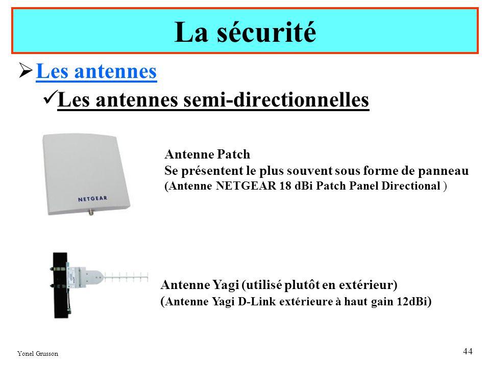 La sécurité Les antennes Les antennes semi-directionnelles