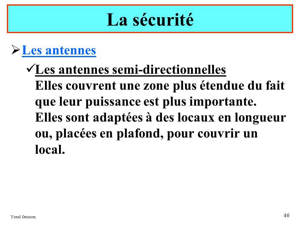 La sécurité Les antennes