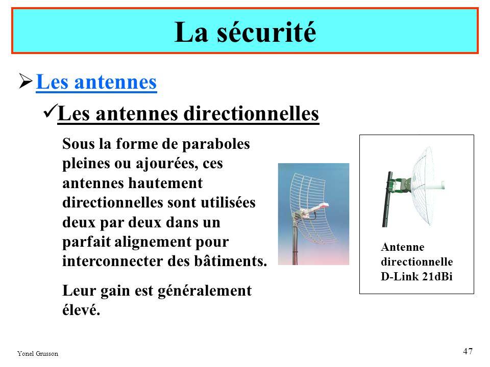 La sécurité Les antennes Les antennes directionnelles
