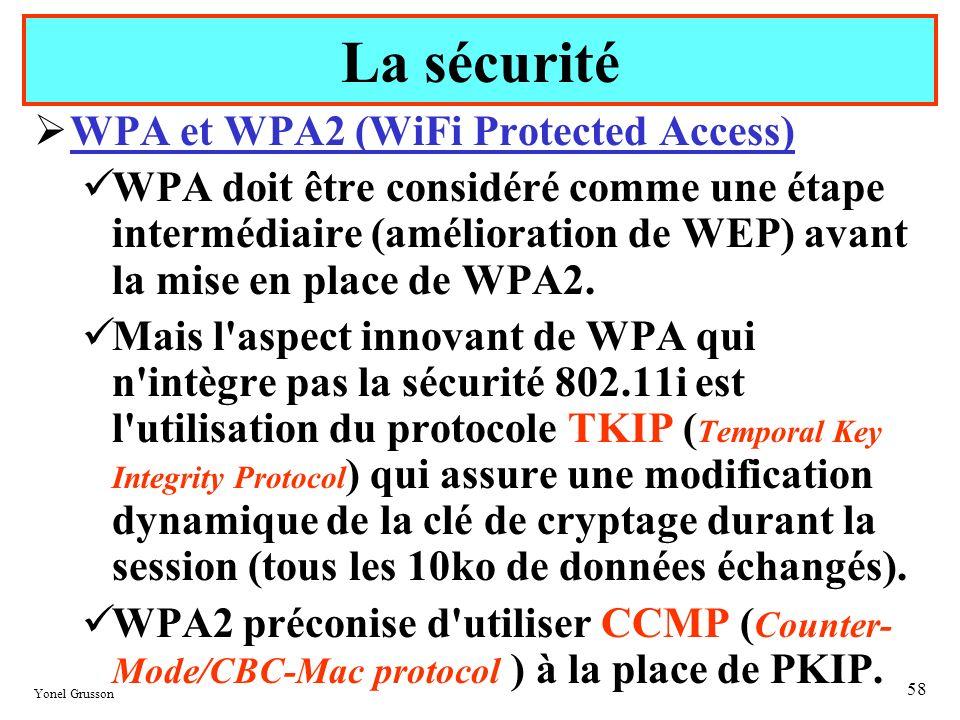 La sécurité WPA et WPA2 (WiFi Protected Access)