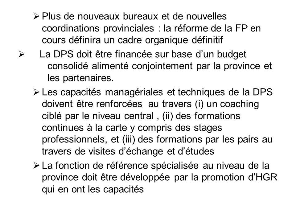 Plus de nouveaux bureaux et de nouvelles coordinations provinciales : la réforme de la FP en cours définira un cadre organique définitif