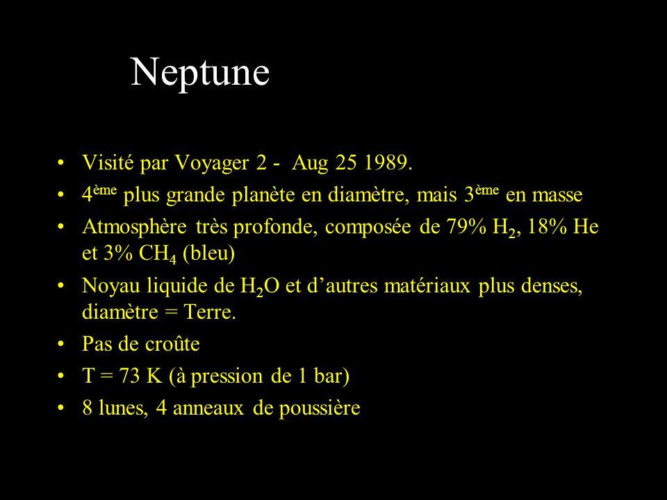 Neptune Visité par Voyager 2 - Aug 25 1989.