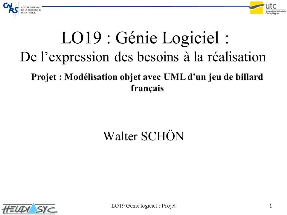 LO19 : Génie Logiciel : De l'expression des besoins à la réalisation