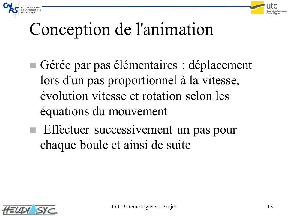 Conception de l animation