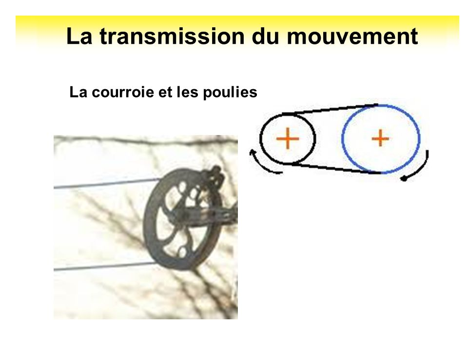 La transmission du mouvement