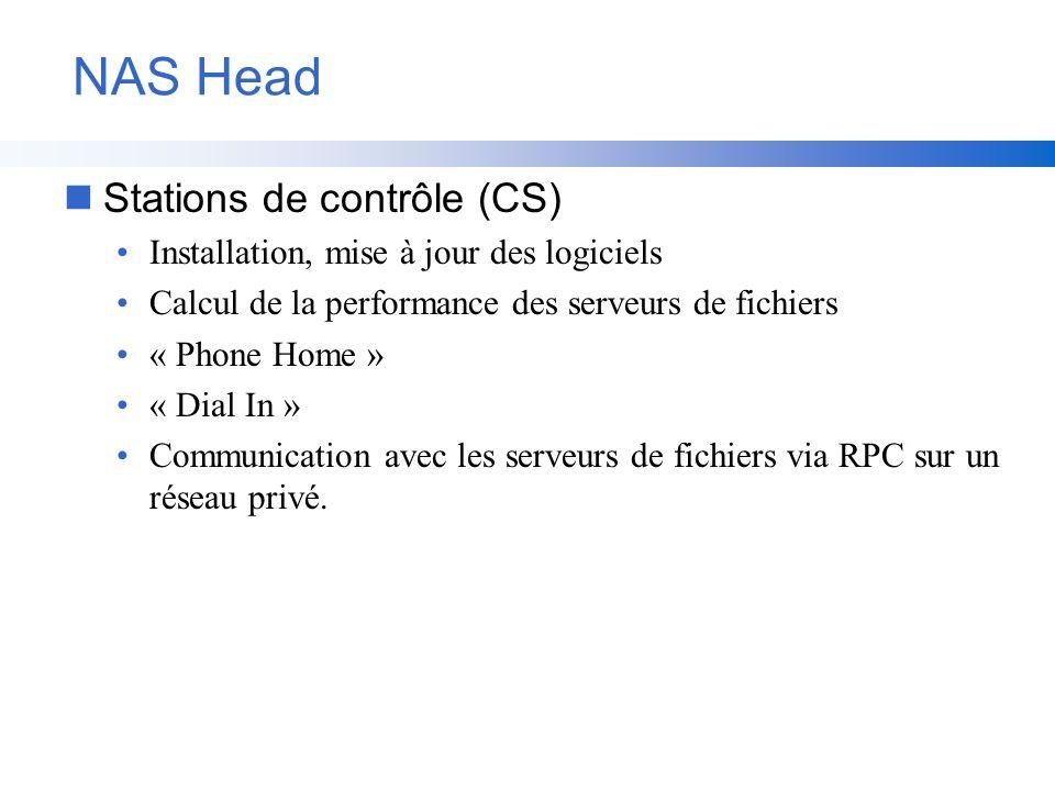 NAS Head Stations de contrôle (CS)