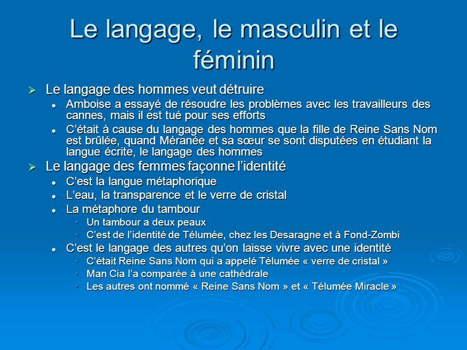 Le langage, le masculin et le féminin