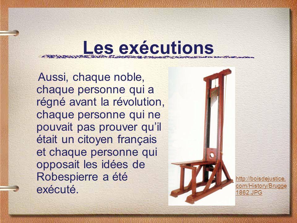 Les exécutions