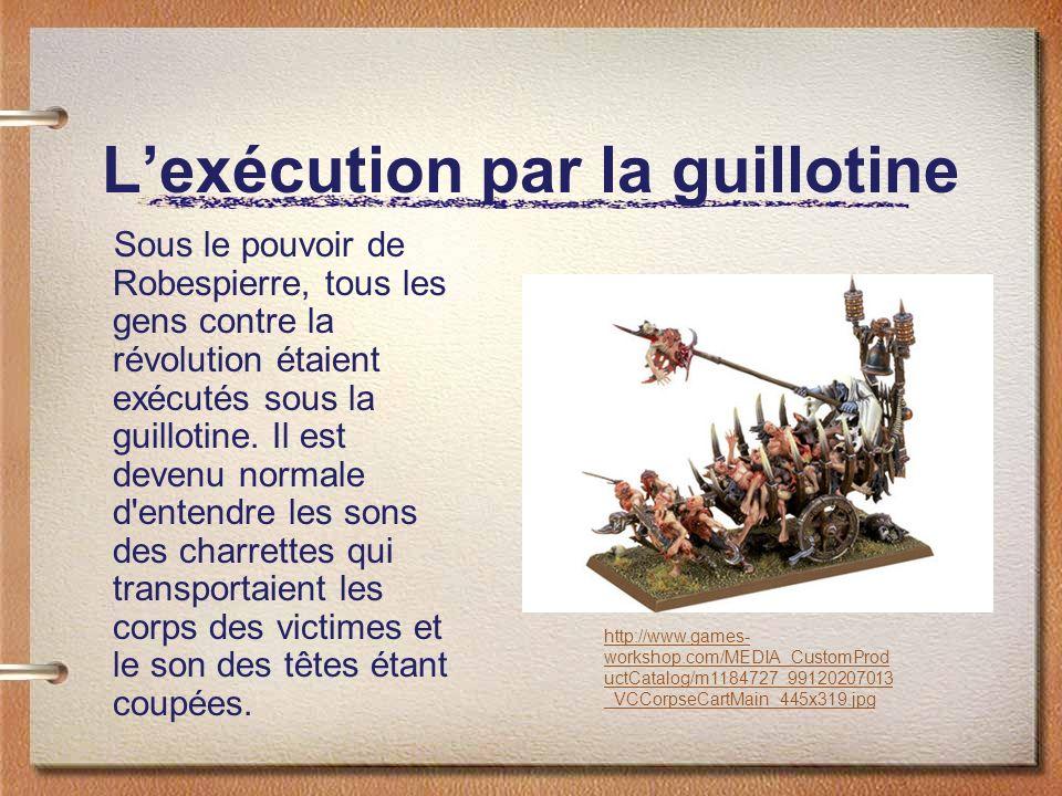 L'exécution par la guillotine