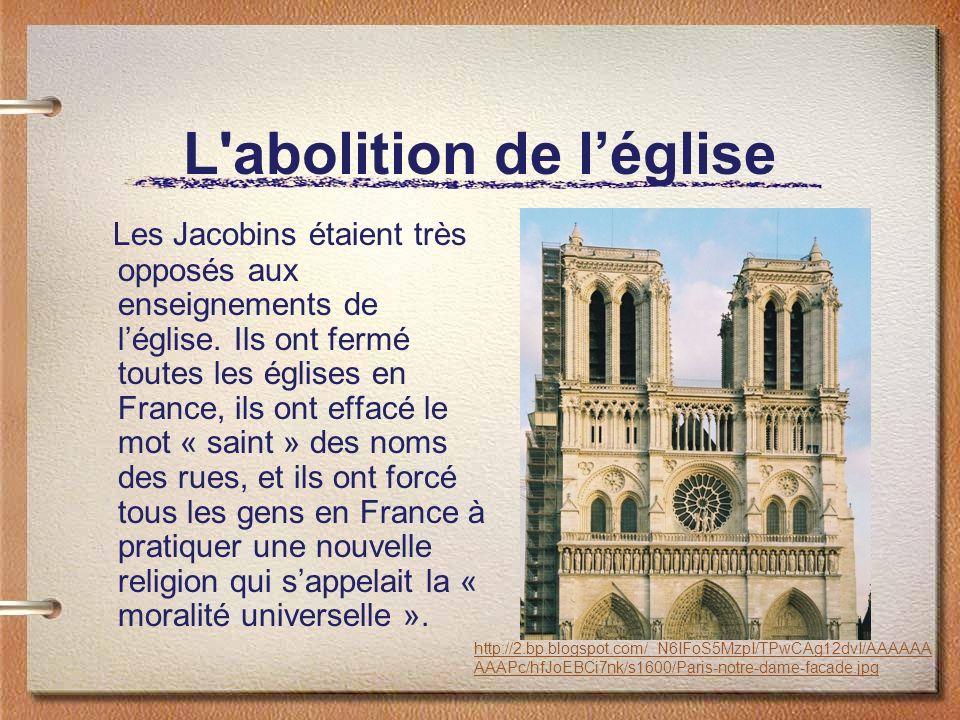 L abolition de l'église