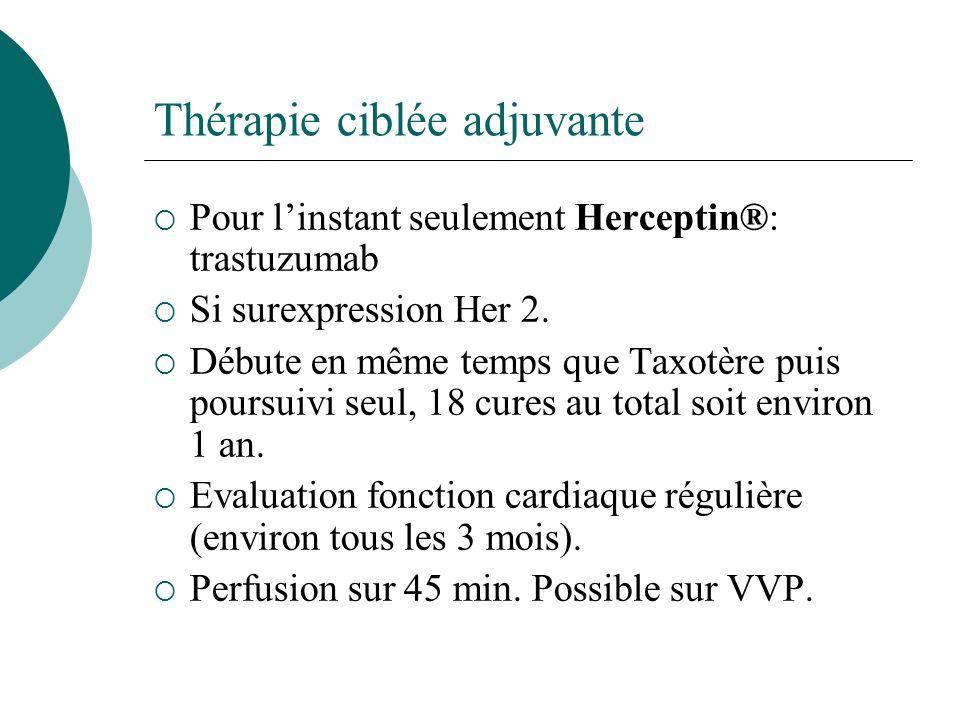 Thérapie ciblée adjuvante