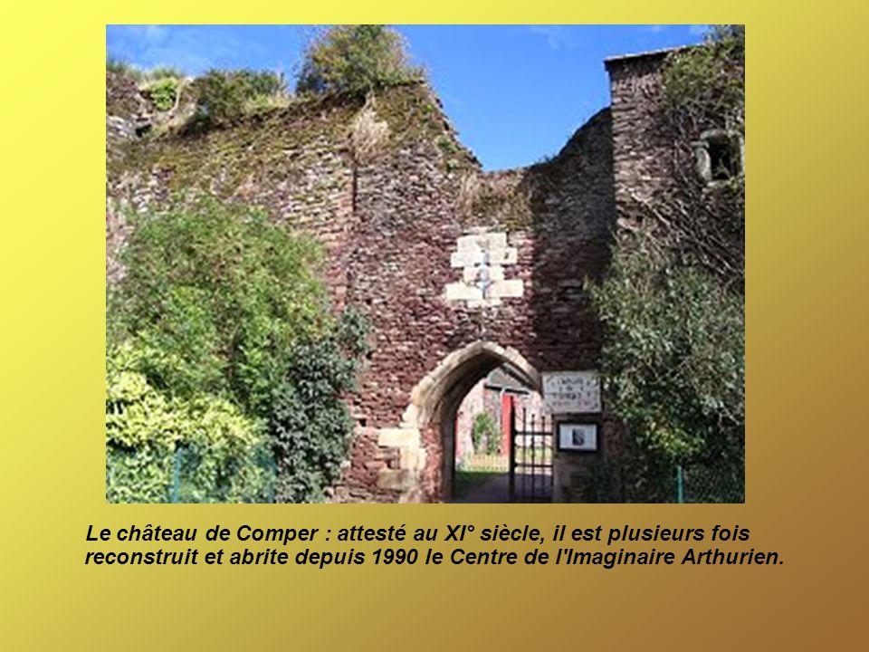 Le château de Comper : attesté au XI° siècle, il est plusieurs fois reconstruit et abrite depuis 1990 le Centre de l Imaginaire Arthurien.