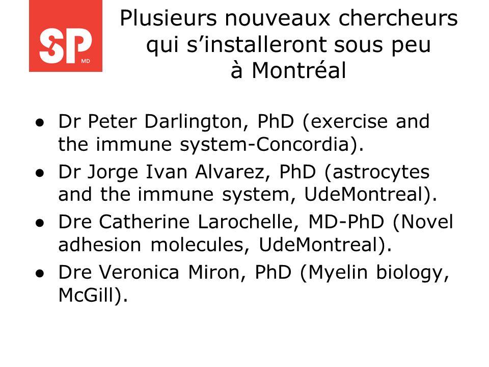 Plusieurs nouveaux chercheurs qui s'installeront sous peu à Montréal