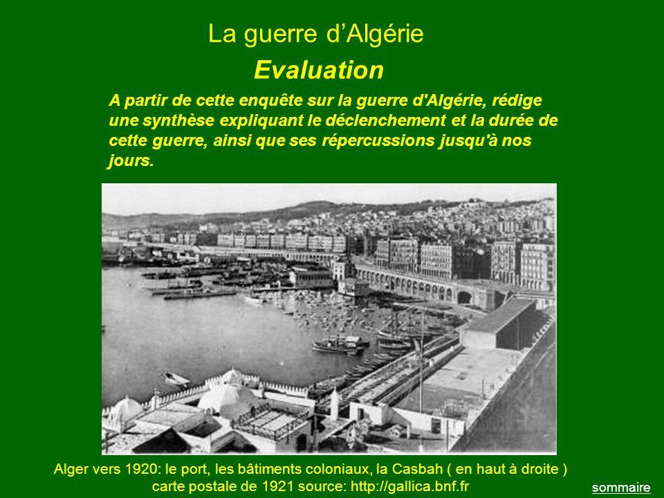 La guerre d'Algérie Evaluation