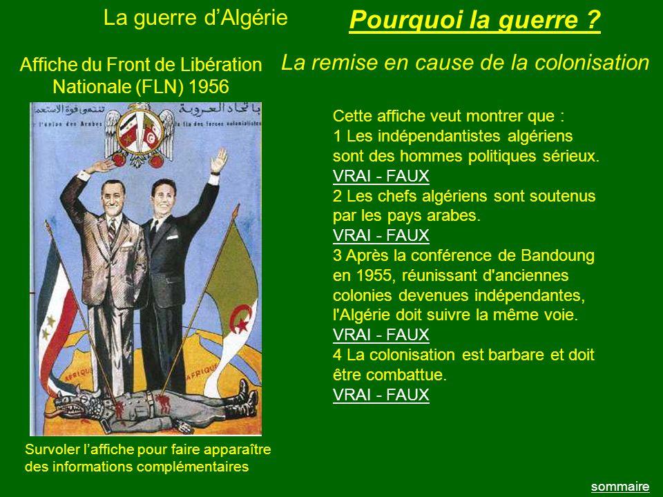 Affiche du Front de Libération Nationale (FLN) 1956