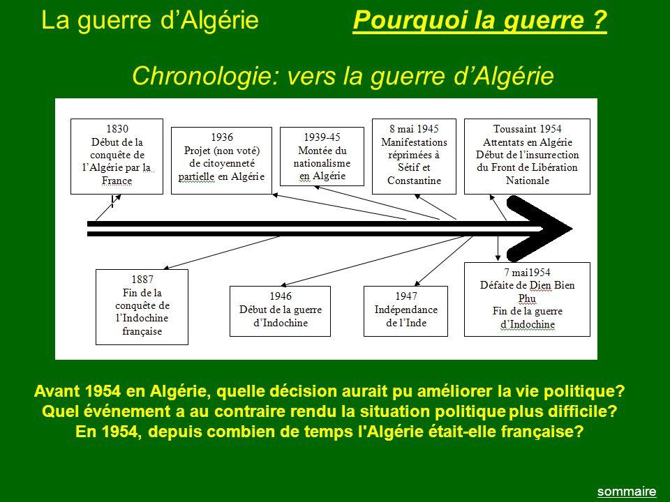 En 1954, depuis combien de temps l Algérie était-elle française