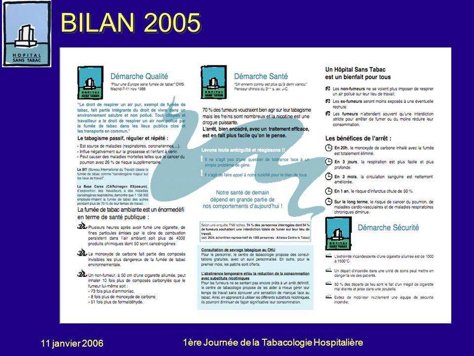 BILAN 2005 11 janvier 2006