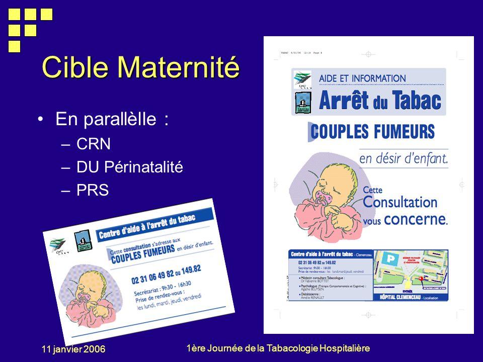 Cible Maternité En parallèlle : CRN DU Périnatalité PRS