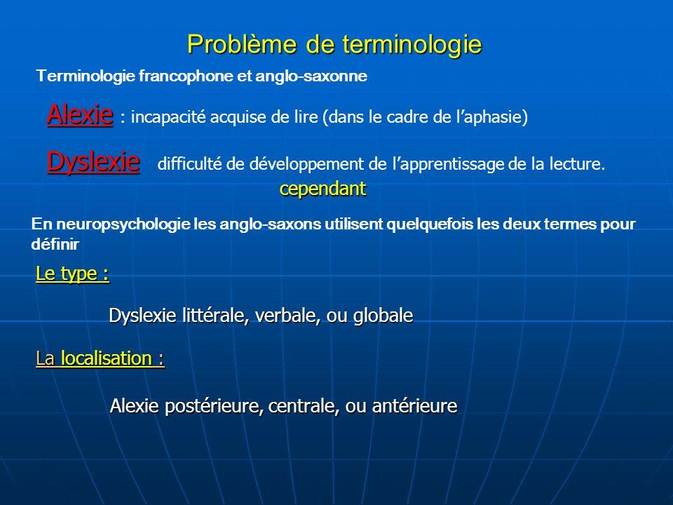 Problème de terminologie