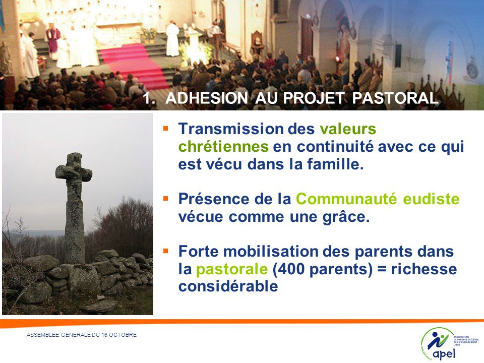 ADHESION AU PROJET PASTORAL