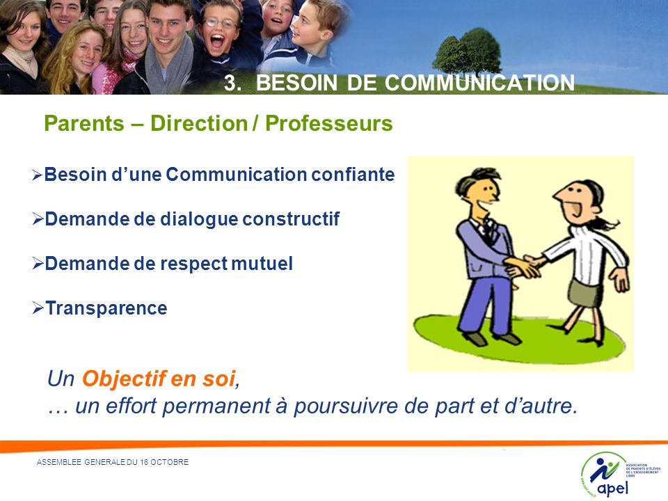 BESOIN DE COMMUNICATION