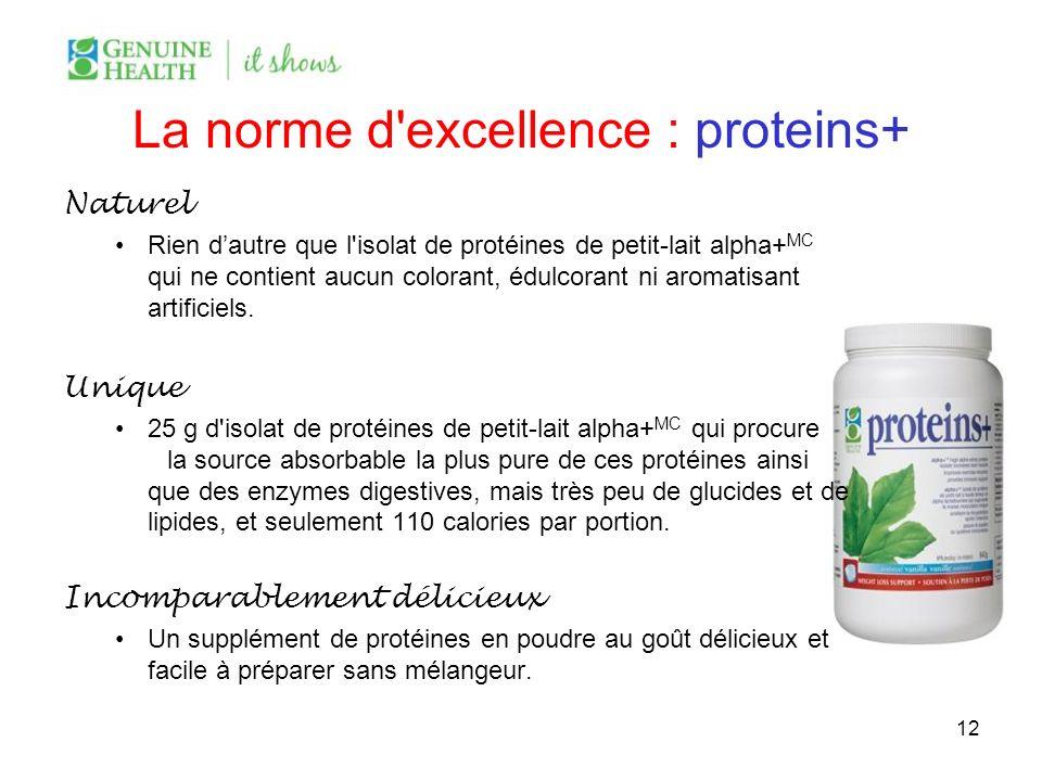 La norme d excellence : proteins+
