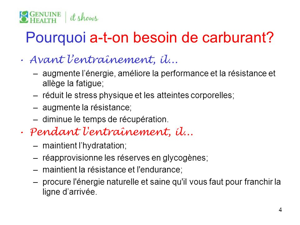 Pourquoi a-t-on besoin de carburant