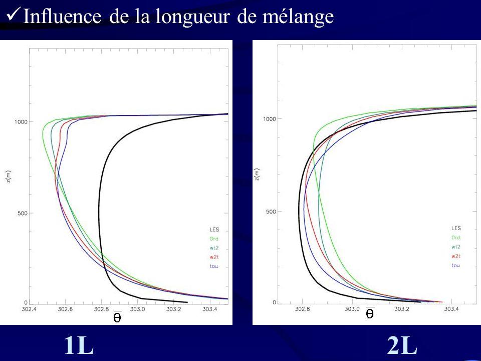 Influence de la longueur de mélange
