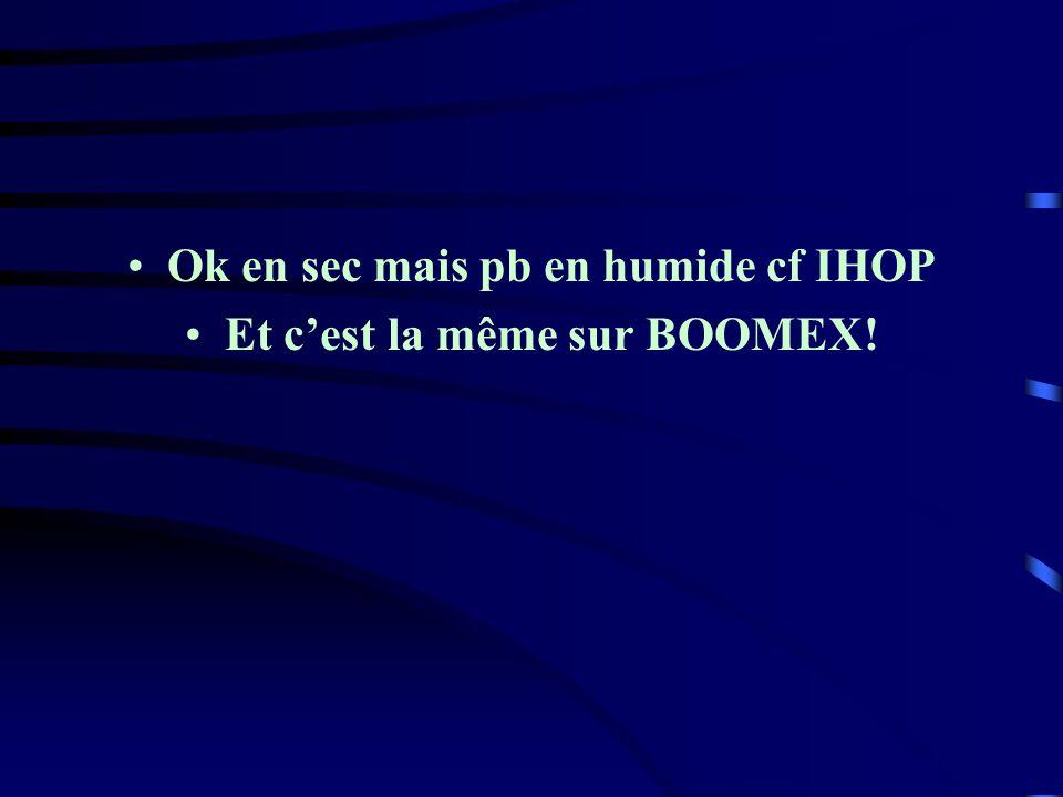 Ok en sec mais pb en humide cf IHOP Et c'est la même sur BOOMEX!