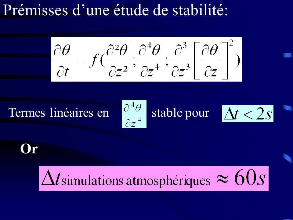 Termes linéaires en stable pour