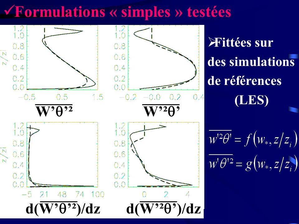 Formulations « simples » testées
