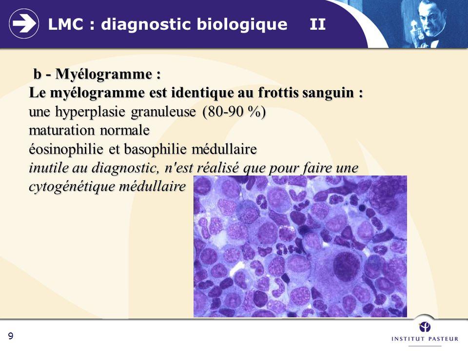LMC : diagnostic biologique II