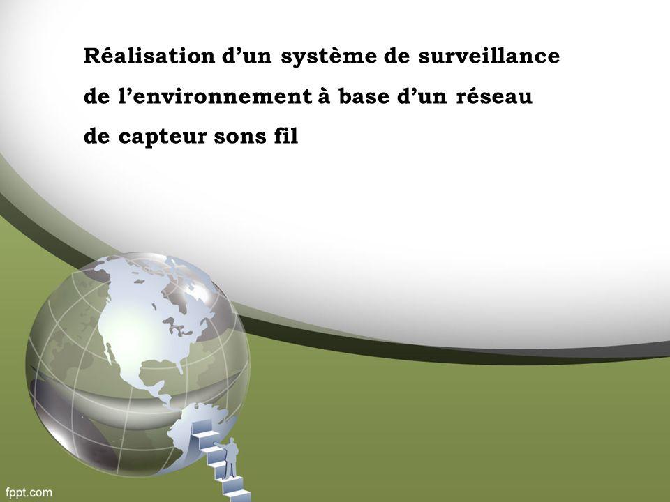 Réalisation d'un système de surveillance de l'environnement à base d'un réseau de capteur sons fil